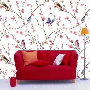 Oiseau sur une branche papiers peints photo