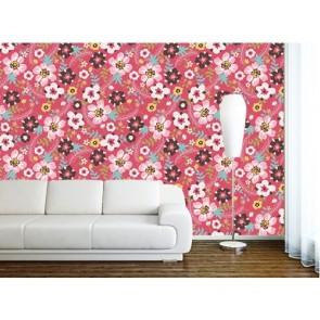 Fleurs colorées papiers peints photo