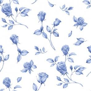 Design Floral Bleu