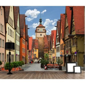 Rues de Rothenburg papiers peints photo appliqué sur le mur