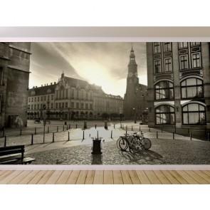 Coucher de soleil en noir et blanc papiers peints photo appliqué sur le mur