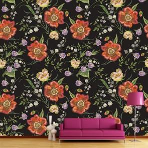 Fleurs spéciales papier peint
