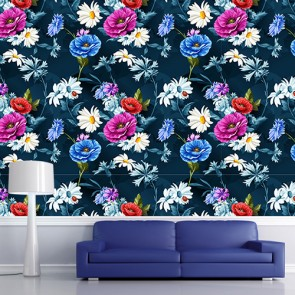 Fleurs joyeuses decoration murale
