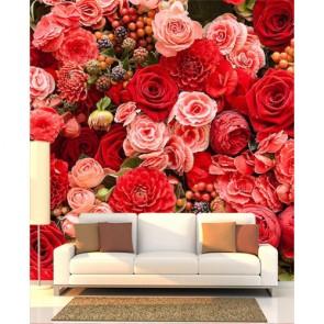 L'harmonie des roses papiers peints photo appliqué sur le mur