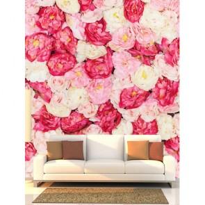 Roses romantiques tapisserie appliqué sur le mur