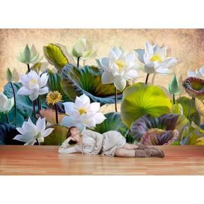 Fleurs du paradis tapisserie appliqué sur le mur