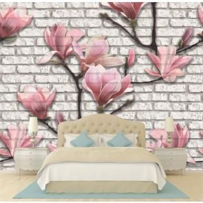 Pierres fleuries tapisserie murale appliqué sur le mur