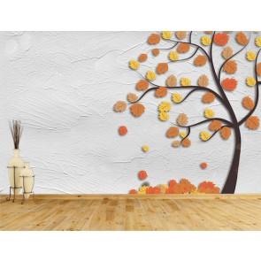Art d'automne papier peint 3d appliqué sur le mur