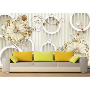 Mur orné papiers peints photo 3D appliqué sur le mur