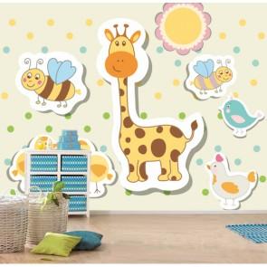 Animaux mignons decoration murale appliqué sur le mur