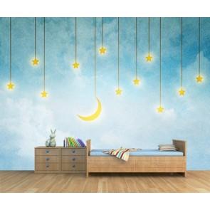 Histoires de stars papiers peints photo 3D appliqué sur le mur