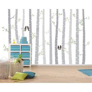 Vivre dans la forêt papier peint appliqué sur le mur
