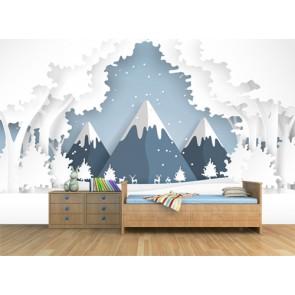 Conte de fée papier peint 3d appliqué sur le mur