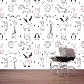 Les animaux sont nos amis decoration murale appliqué sur le mur