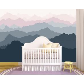 Collines lointaines tapisserie murale appliqué sur le mur