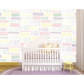 Harmonie des lignes papier peint 3d appliqué sur le mur
