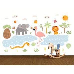 Animaux et nature papier peint appliqué sur le mur