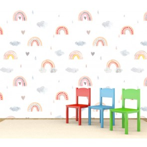 Conception arc-en-ciel tapisserie appliqué sur le mur