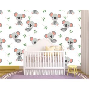 Doux des koalas tapisserie murale appliqué sur le mur