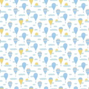 Ballons Bleus Dans Le Ciel