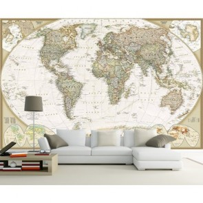 Carte du monde décorative decoration murale