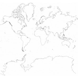 Carte Du Monde Dessin Au Fusain