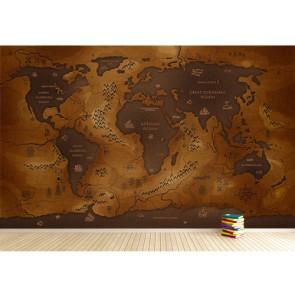 Si les continents étaient des océans papier peint appliqué sur le mur