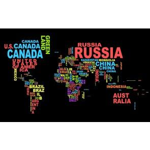 Carte Du Monde De Typographie Colorée
