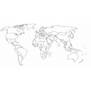 Carte Du Monde Amovible