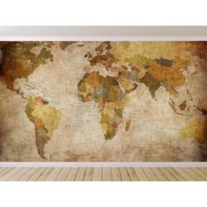 Carte du monde élégante papier peint appliqué sur le mur