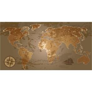 Carte Du Monde Avec Des Nuances De Brun