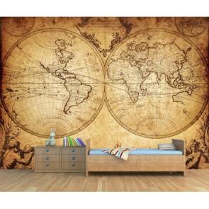 L'état du monde en 1733 papier peint appliqué sur le mur