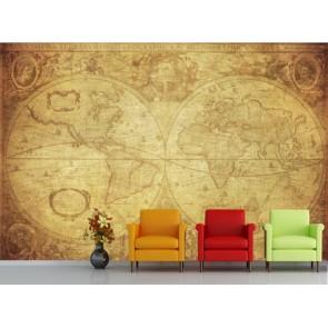 1630 Carte du monde papiers peints photo 3D appliqué sur le mur