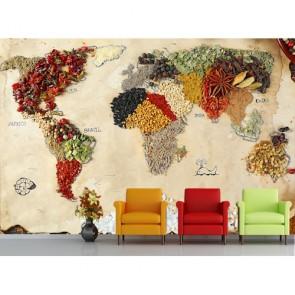 Monde des noix et des épices decoration murale appliqué sur le mur