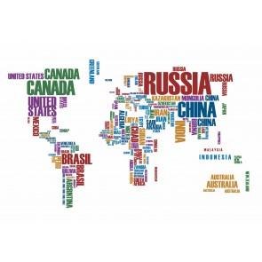 Carte Du Monde Avec Des Lettres