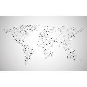 Carte Du Monde Du Réseau Mondial