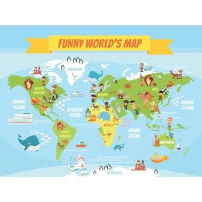 Carte Du Monde Drôle