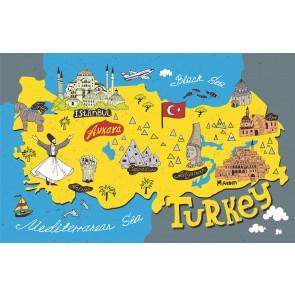Carte Turque Avec Symboles