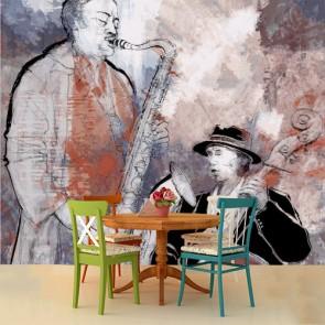 Les bases du jazz papiers peints photo appliqué sur le mur