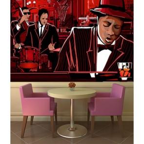 Jazz Bar papiers peints photo 3D appliqué sur le mur