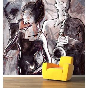 Danse et musique papier peint appliqué sur le mur