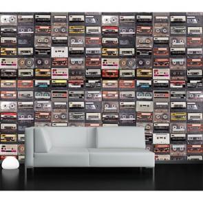Temps de bande tapisserie appliqué sur le mur