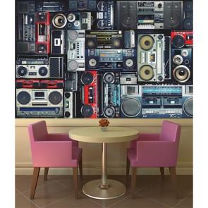 Ensembles de musique tapisserie murale appliqué sur le mur