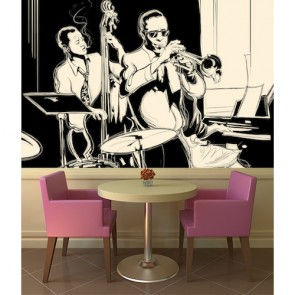 Jazz Times papiers peints photo appliqué sur le mur