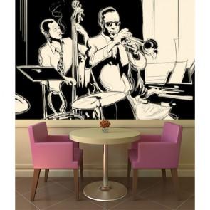 Jazz Times papiers peints photo appliqué sur le mur