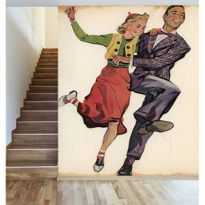 Lindy Hop Chaleston decoration murale appliqué sur le mur