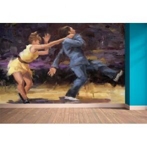 Danse swing tapisserie murale appliqué sur le mur