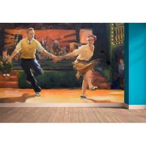 Chorée de danse Lindy Hop papier peint 3d appliqué sur le mur