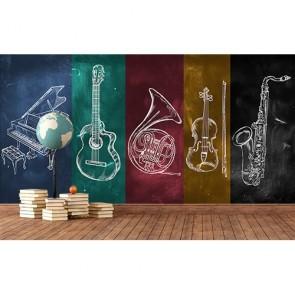 Jazzy tapisserie murale appliqué sur le mur
