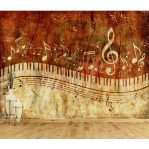 Amour De La Musique Papier Peint Photo Applique